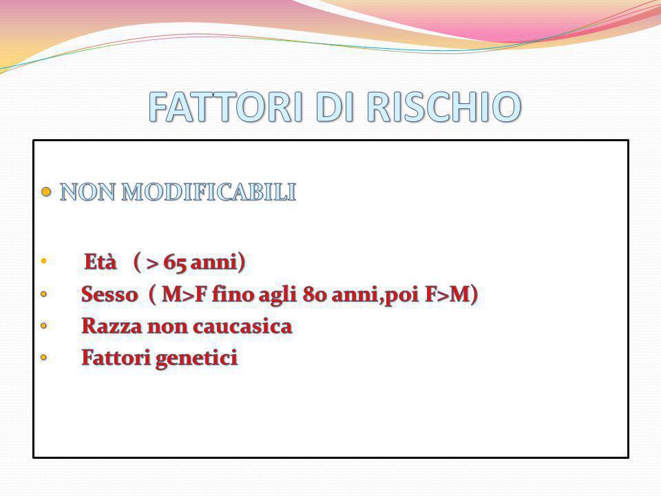 FATTORI DI RISCHIO NON MODIFICABILI Età ( > 65 anni)