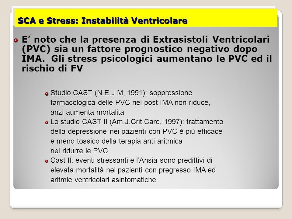 SCA e Stress: Instabilità Ventricolare