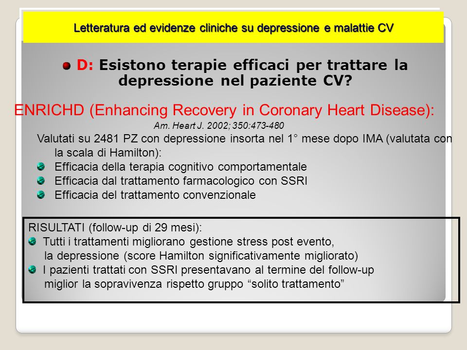 ENRICHD (Enhancing Recovery in Coronary Heart Disease):