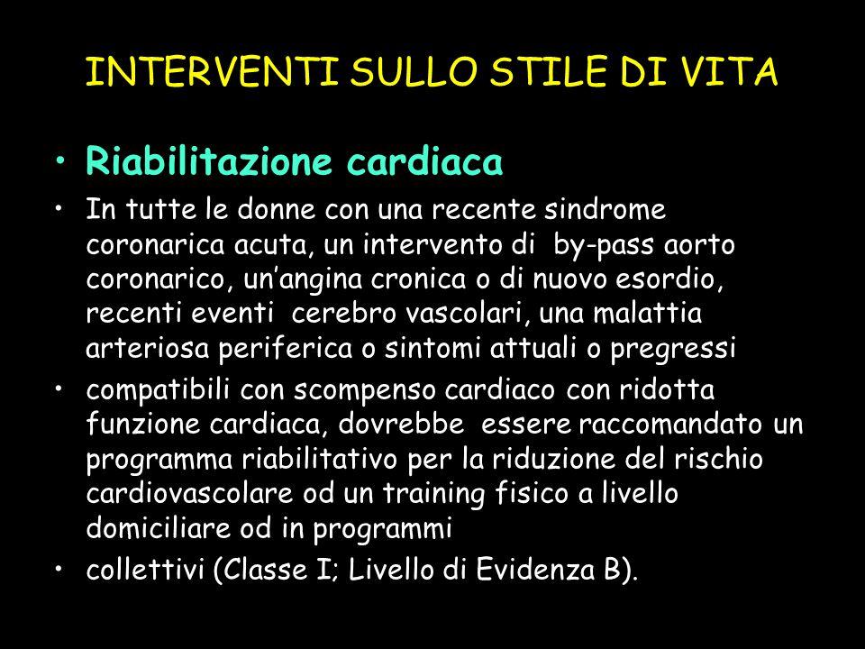 INTERVENTI SULLO STILE DI VITA