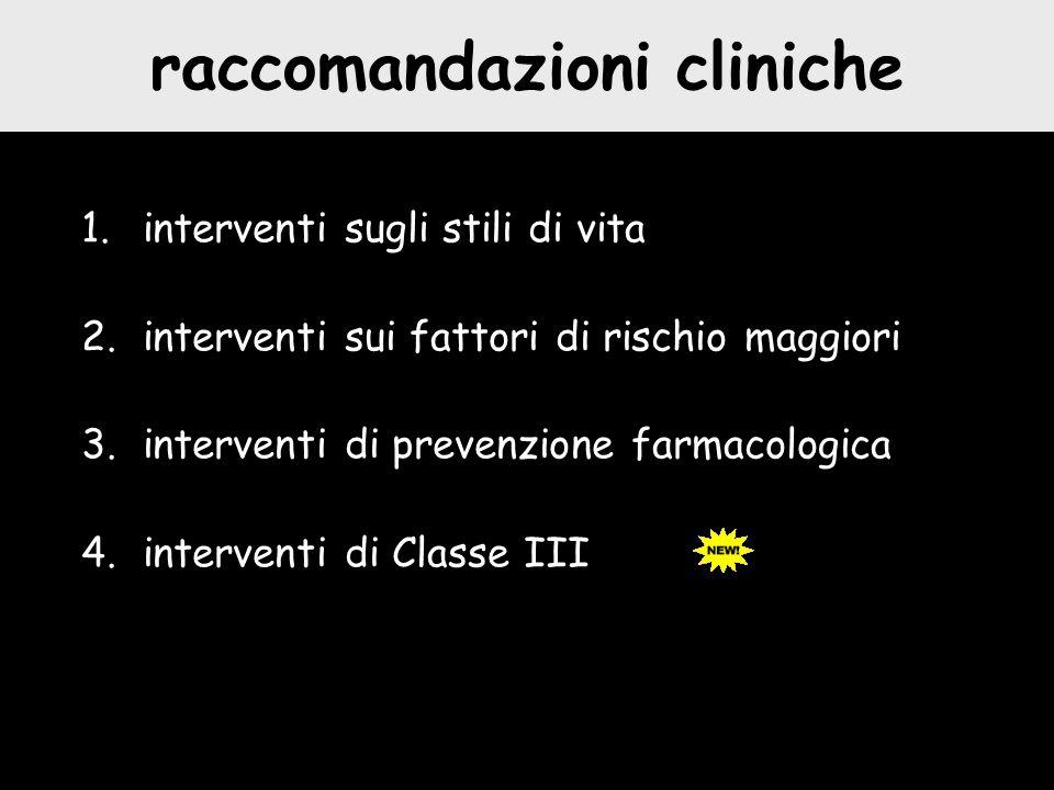 raccomandazioni cliniche