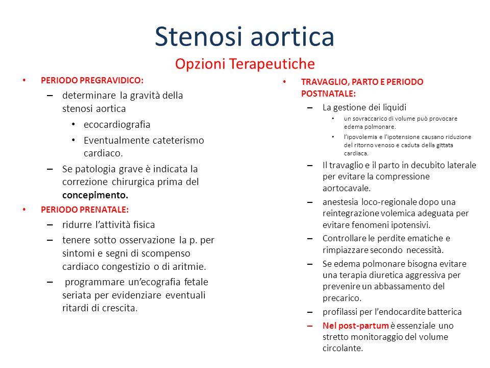Stenosi aortica Opzioni Terapeutiche