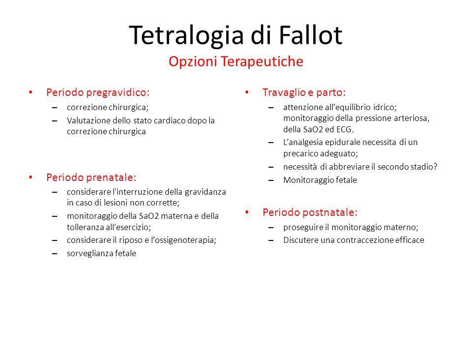 Tetralogia di Fallot Opzioni Terapeutiche