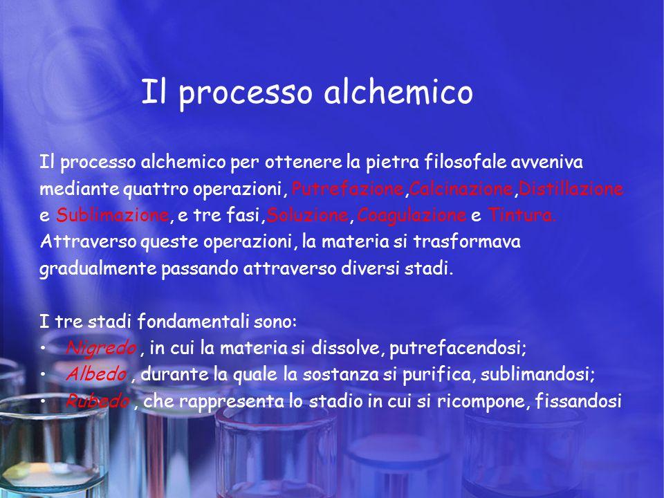 Il processo alchemico Il processo alchemico per ottenere la pietra filosofale avveniva.