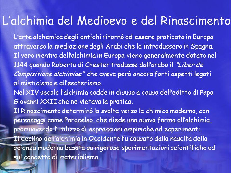 L'alchimia del Medioevo e del Rinascimento