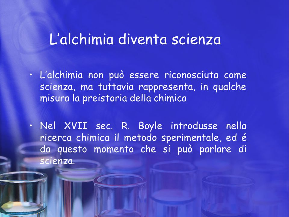 L'alchimia diventa scienza