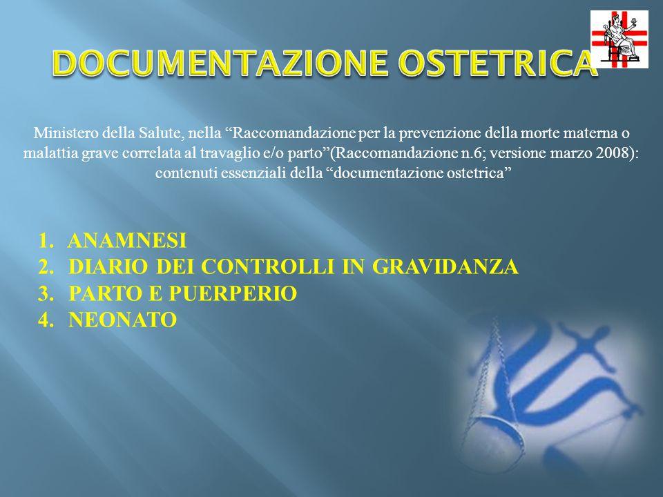 DOCUMENTAZIONE OSTETRICA