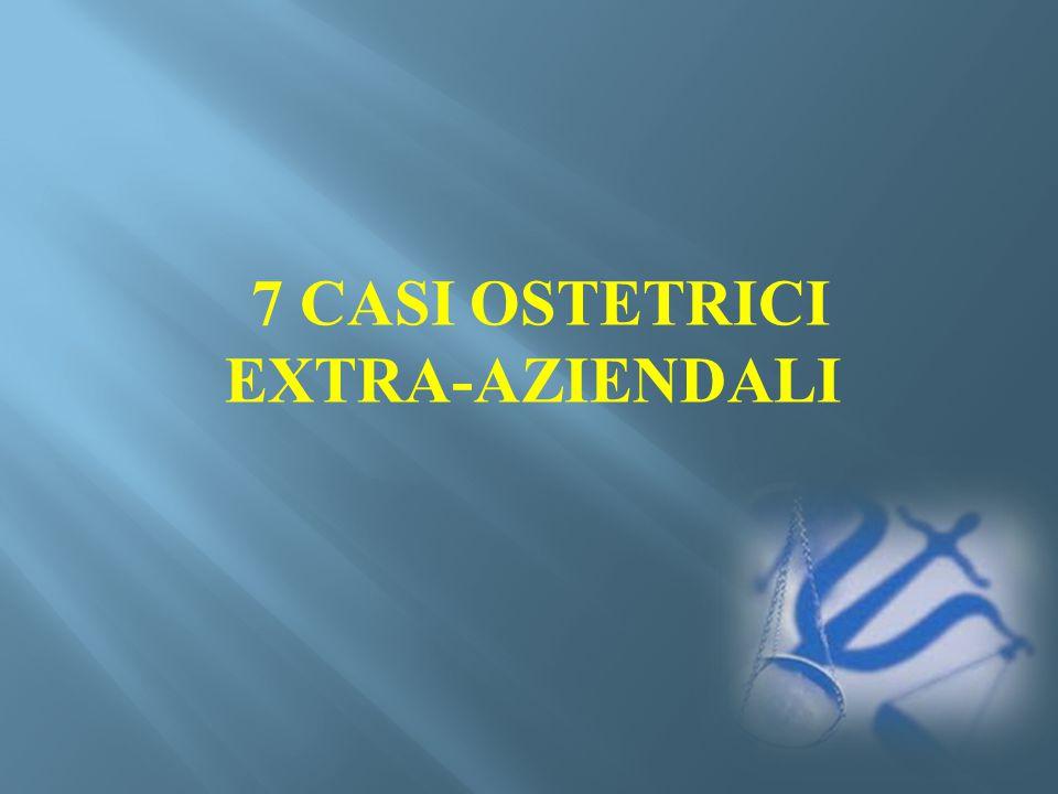 7 CASI OSTETRICI EXTRA-AZIENDALI