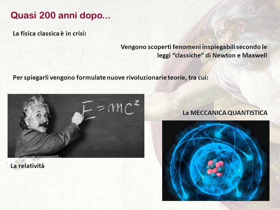 Quasi 200 anni dopo... La fisica classica è in crisi: