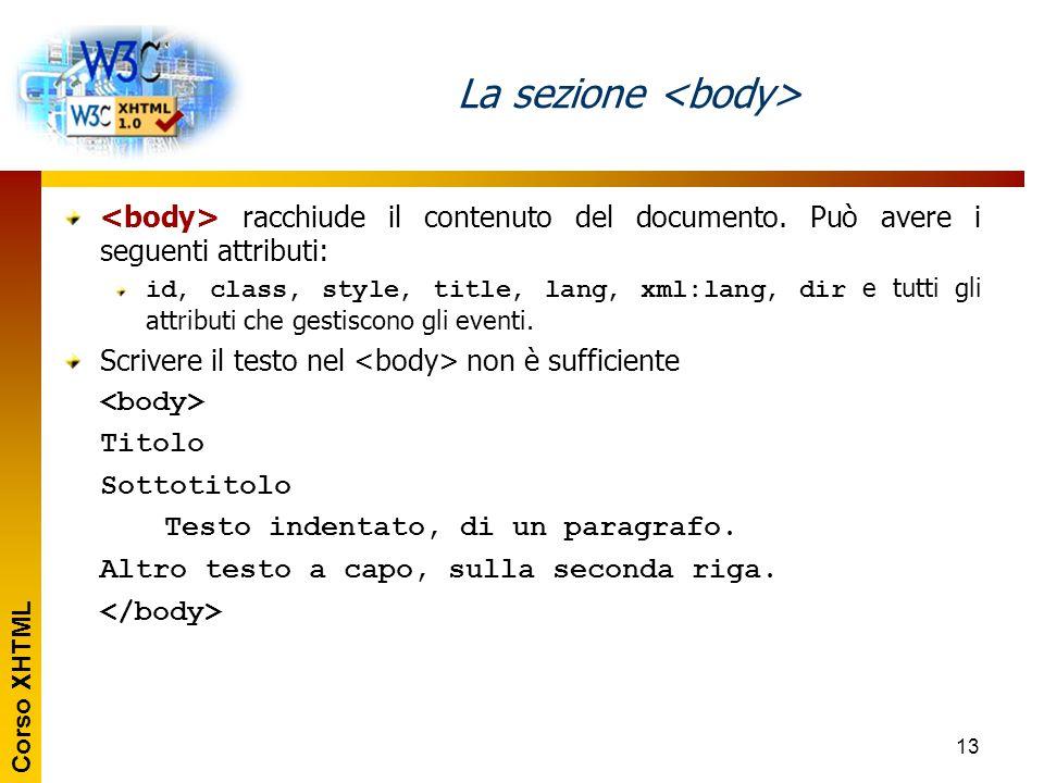 La sezione <body>