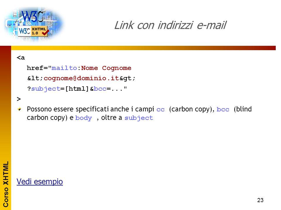 Link con indirizzi e-mail
