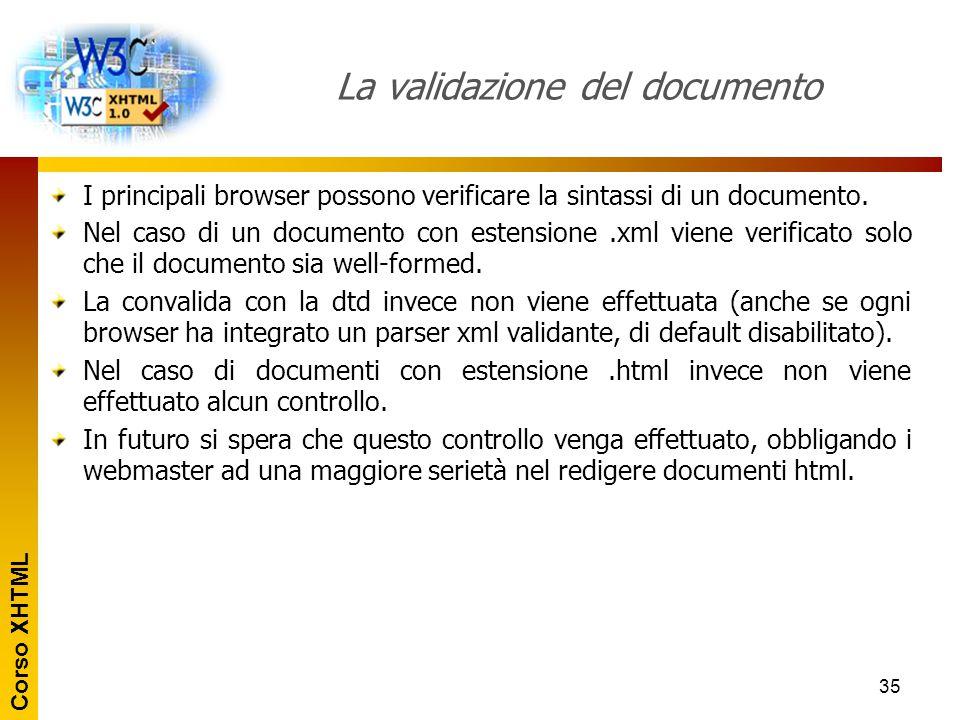 La validazione del documento