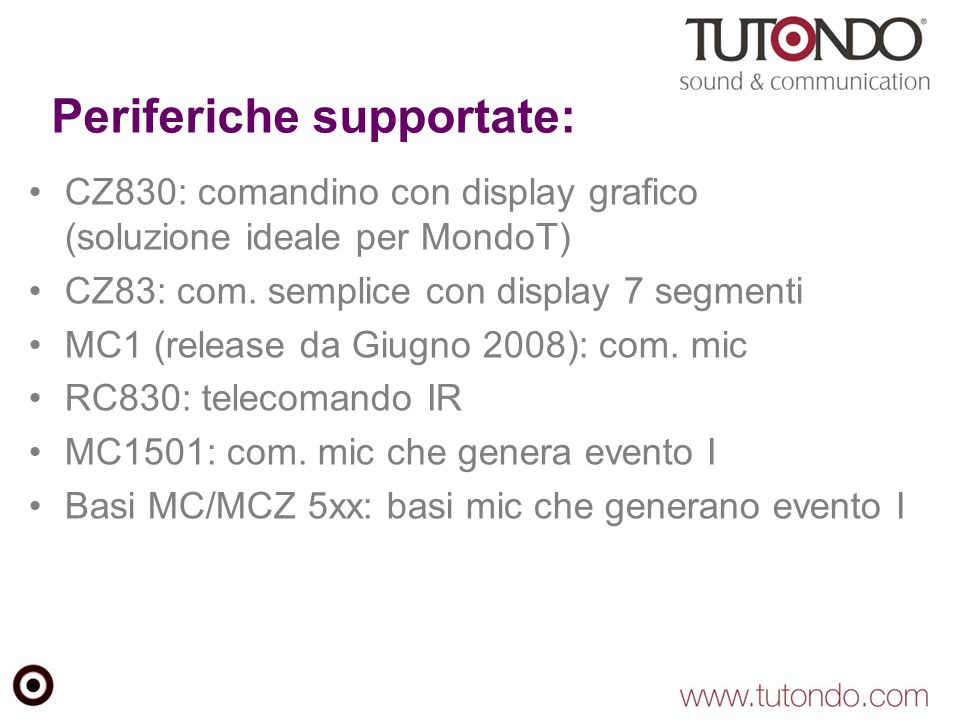 Periferiche supportate: