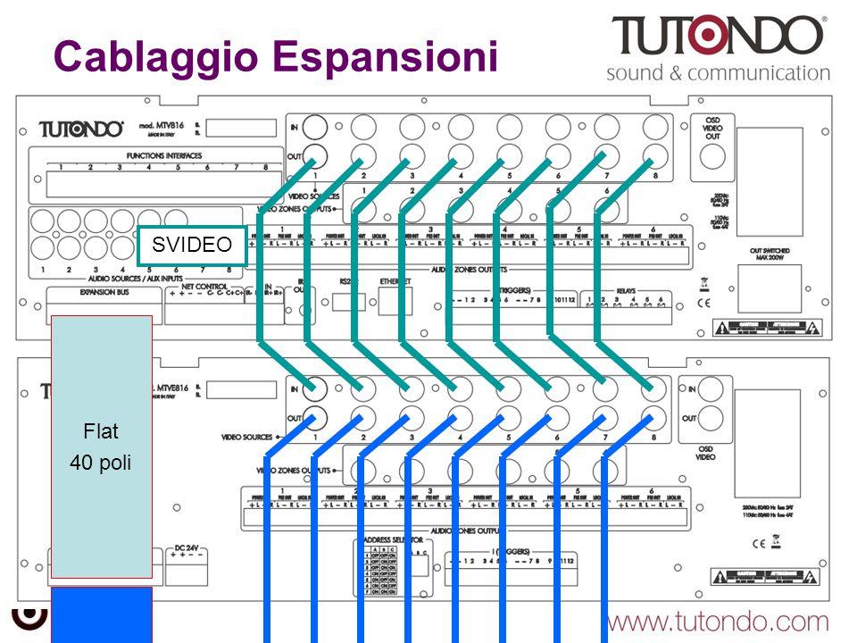 Cablaggio Espansioni SVIDEO Flat 40 poli