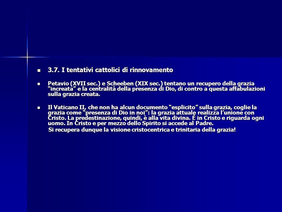 3.7. I tentativi cattolici di rinnovamento