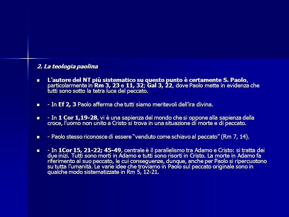 2. La teologia paolina