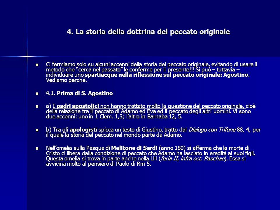4. La storia della dottrina del peccato originale