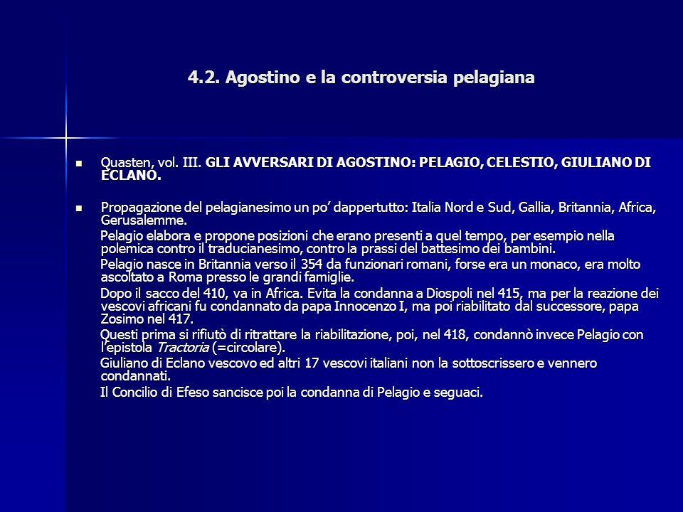 4.2. Agostino e la controversia pelagiana