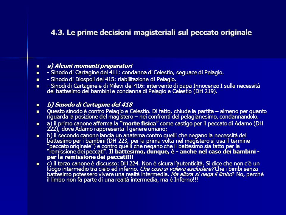 4.3. Le prime decisioni magisteriali sul peccato originale