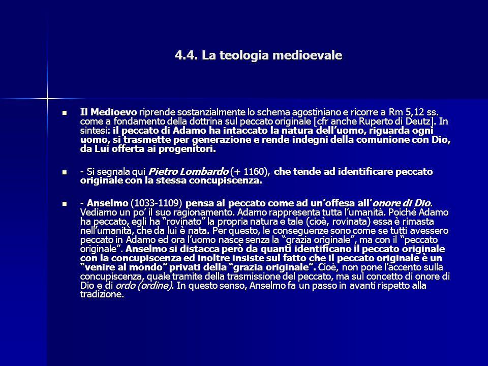 4.4. La teologia medioevale