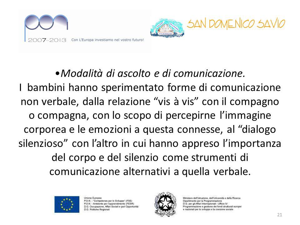Modalità di ascolto e di comunicazione