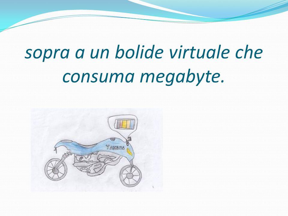 sopra a un bolide virtuale che consuma megabyte.