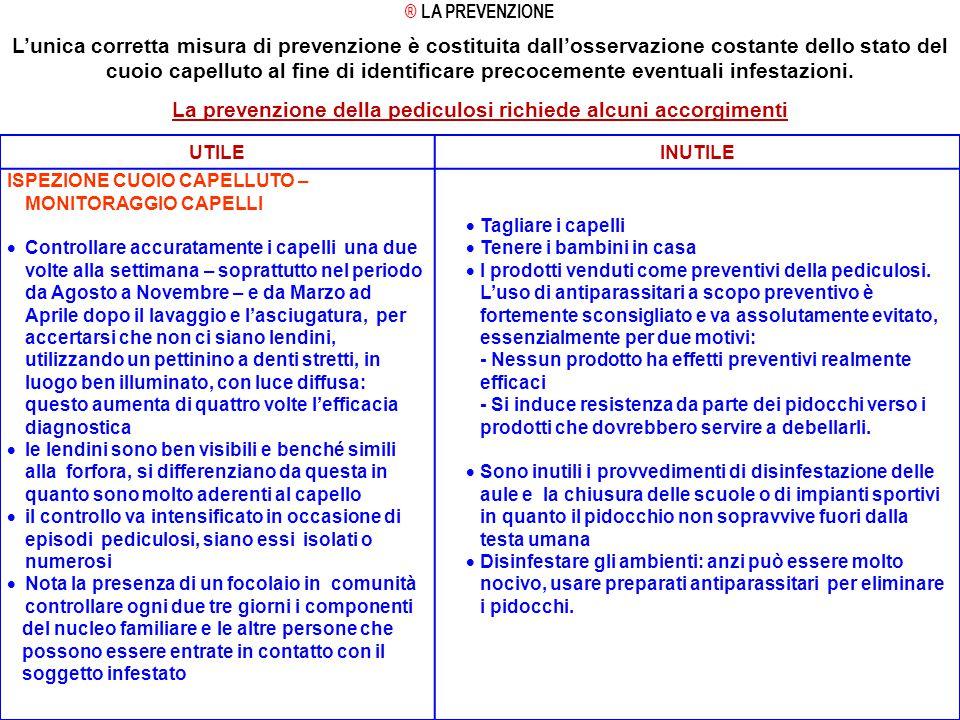 La prevenzione della pediculosi richiede alcuni accorgimenti