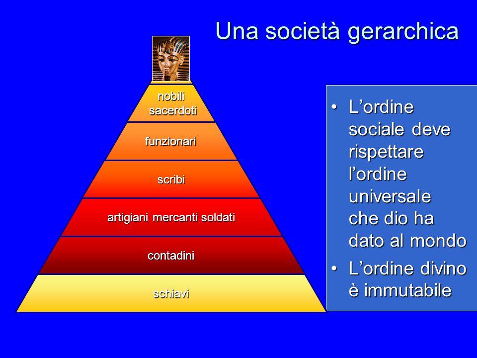 Una società gerarchica