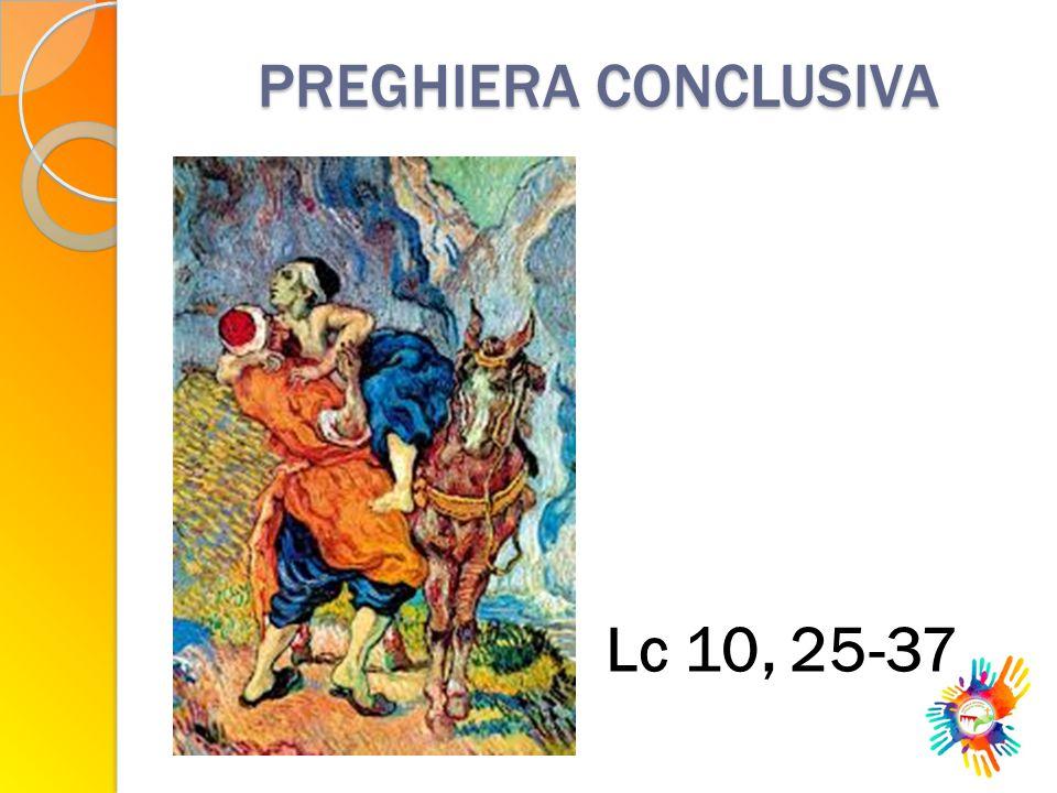 PREGHIERA CONCLUSIVA Lc 10, 25-37