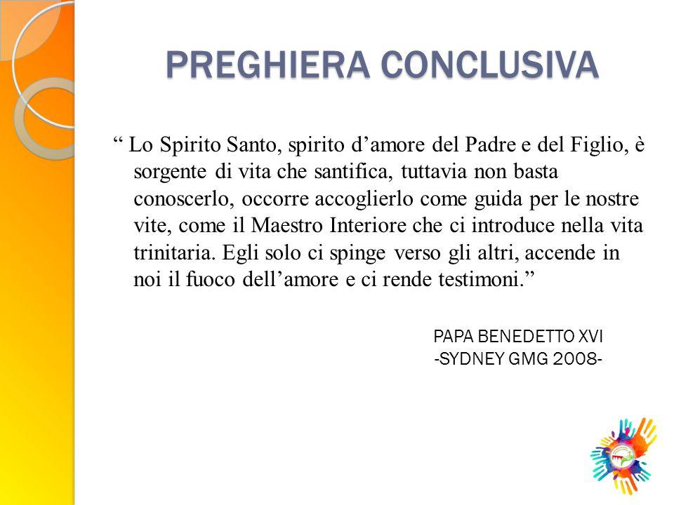 PREGHIERA CONCLUSIVA