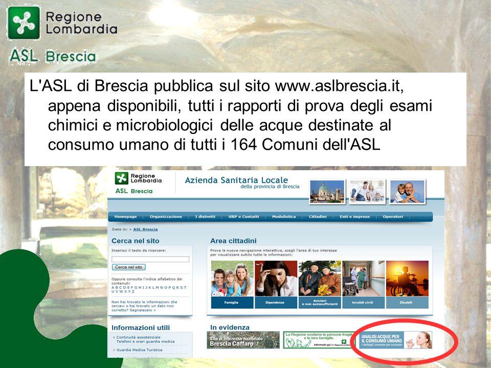 L ASL di Brescia pubblica sul sito www. aslbrescia