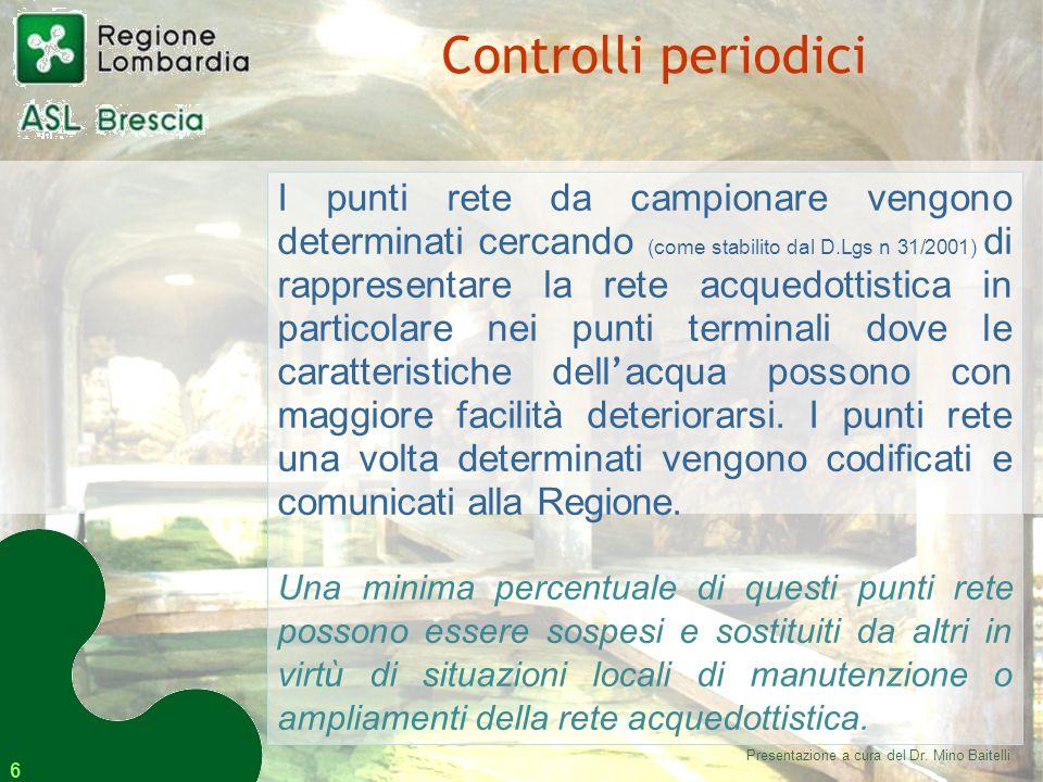Presentazione a cura del Dr. Mino Baitelli