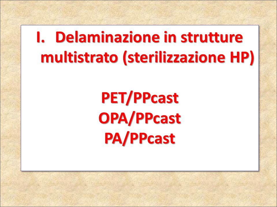 Delaminazione in strutture multistrato (sterilizzazione HP)