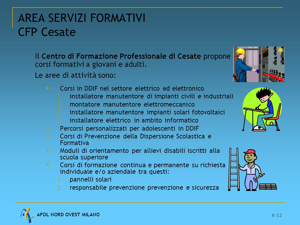 AREA SERVIZI FORMATIVI CFP Cesate