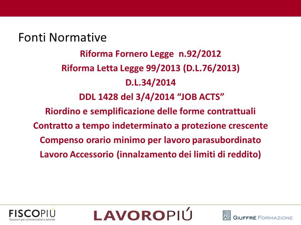 Fonti Normative Riforma Fornero Legge n.92/2012