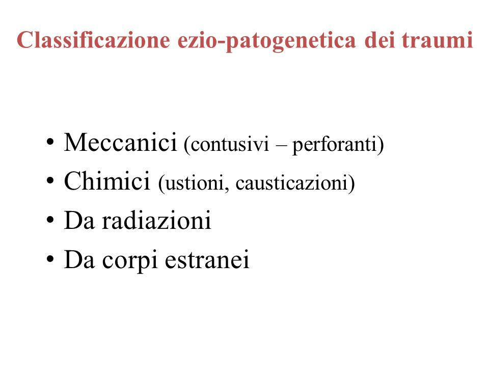 Classificazione ezio-patogenetica dei traumi