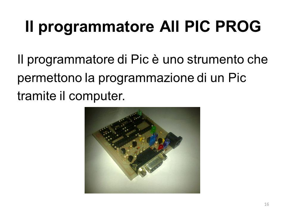Il programmatore All PIC PROG