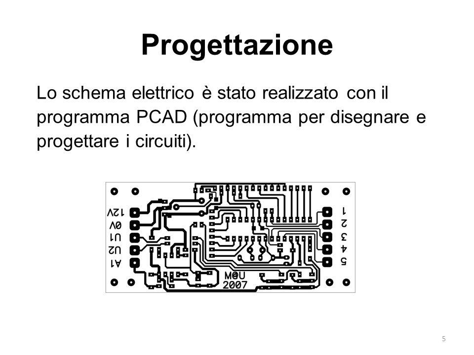 Progettazione Lo schema elettrico è stato realizzato con il