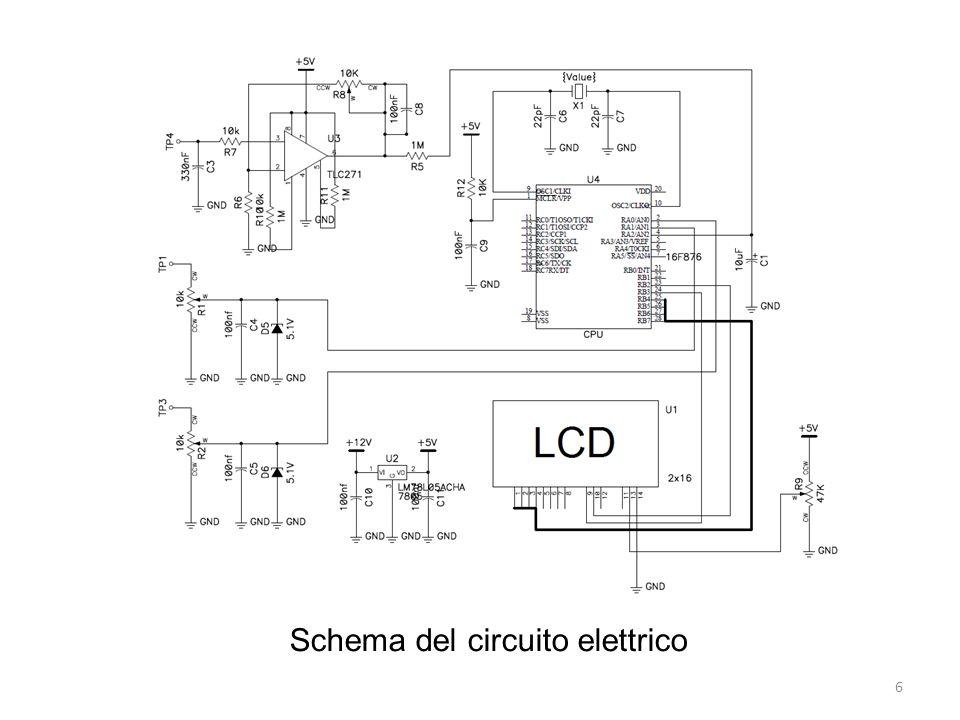 Schema del circuito elettrico