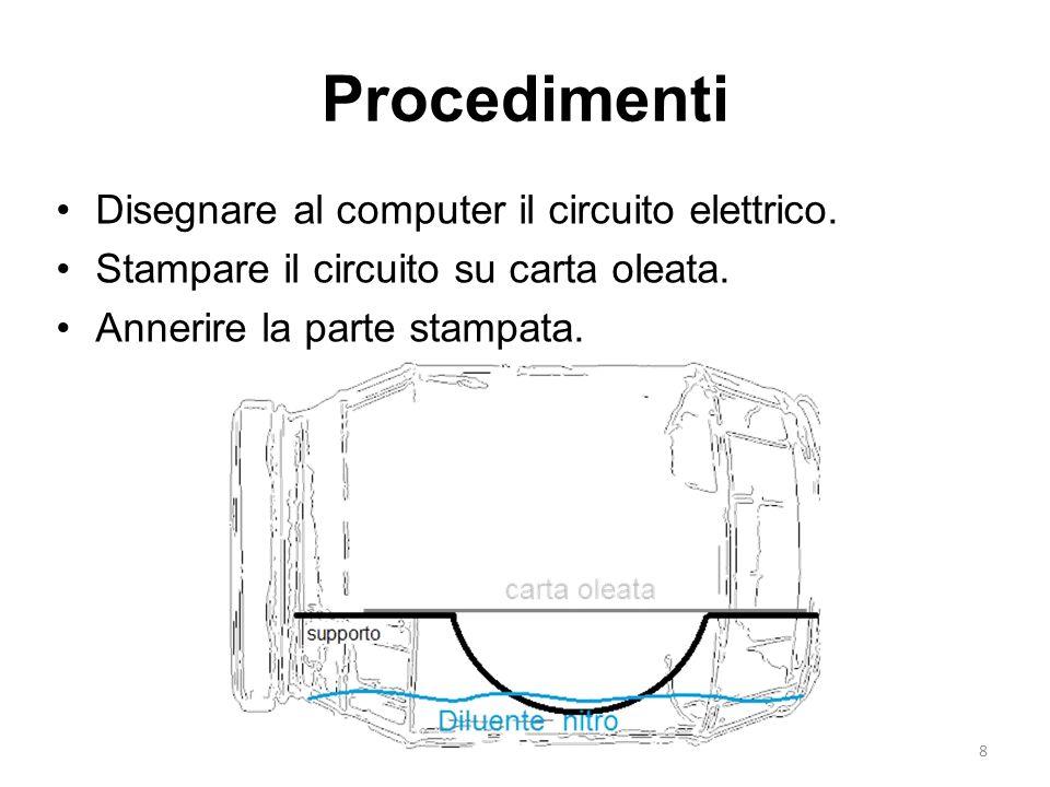 Procedimenti Disegnare al computer il circuito elettrico.