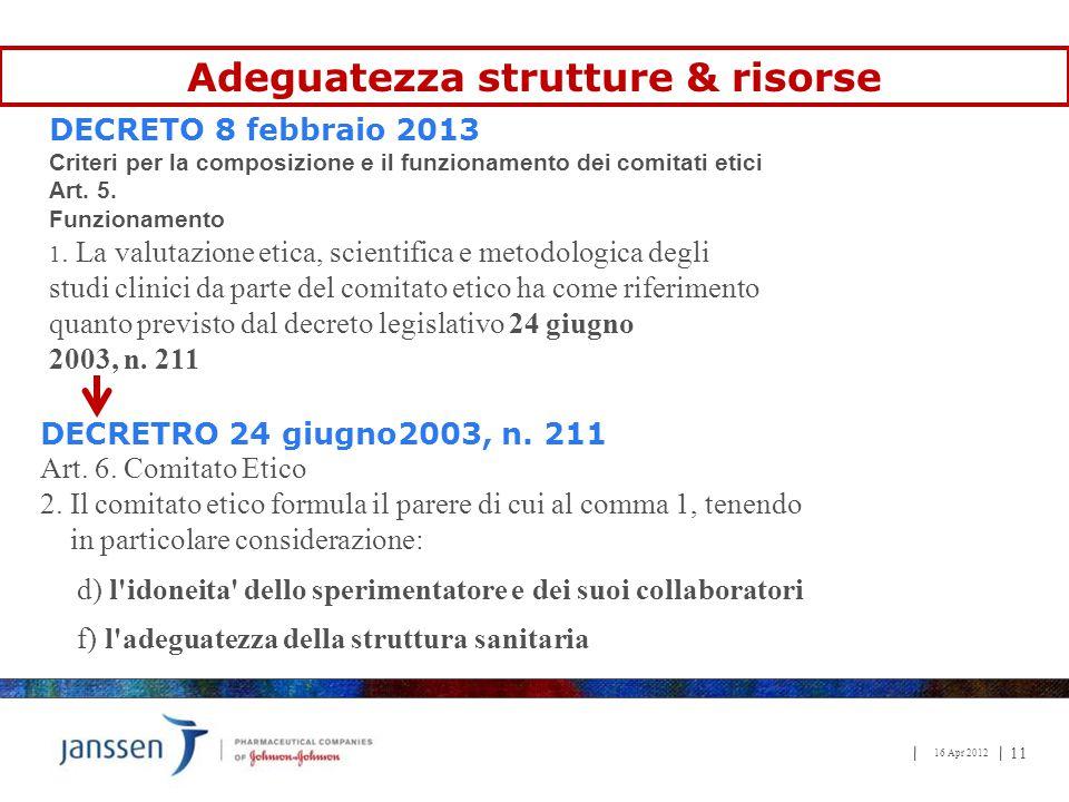 Adeguatezza strutture & risorse
