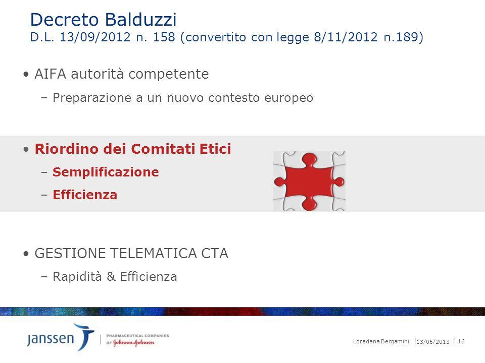 Decreto Balduzzi AIFA autorità competente Riordino dei Comitati Etici