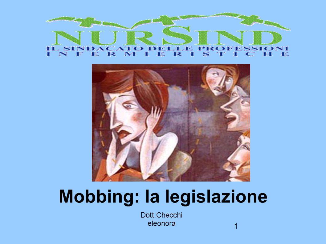 Mobbing: la legislazione