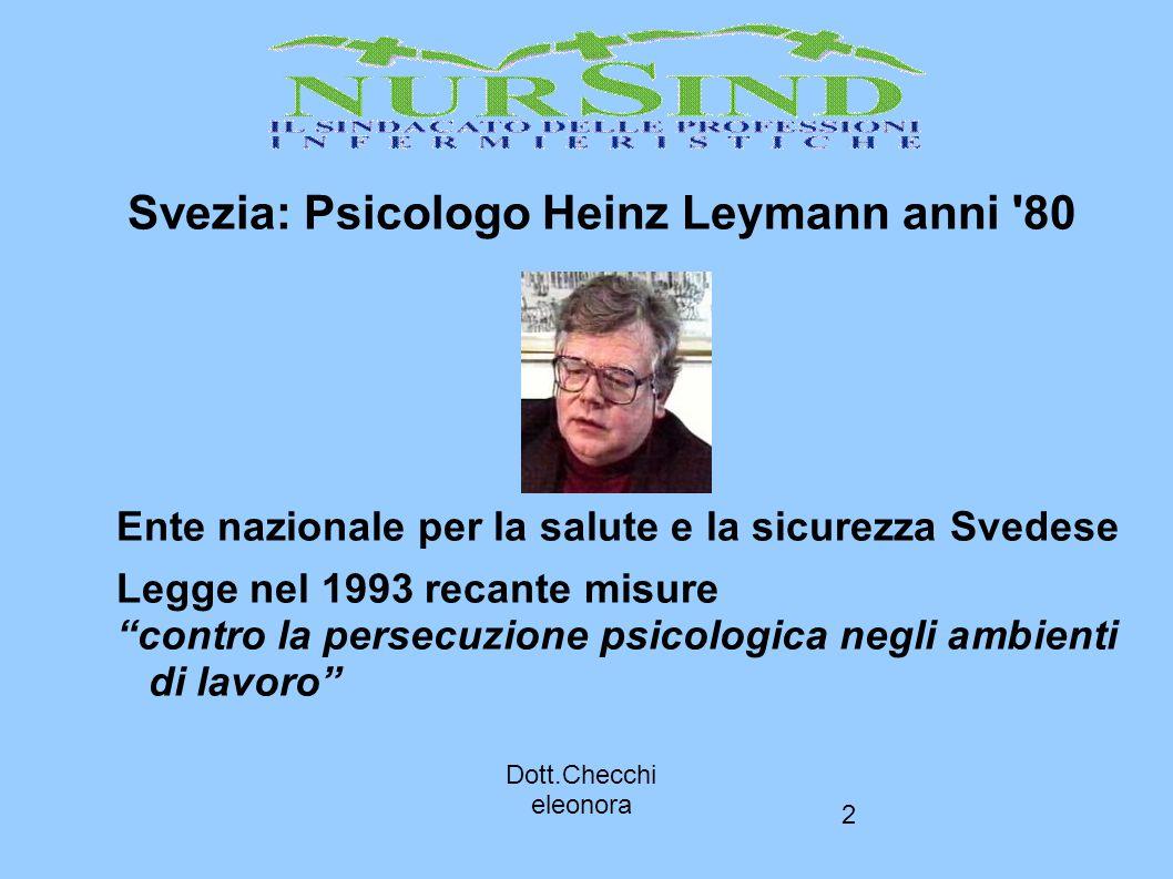 Svezia: Psicologo Heinz Leymann anni 80