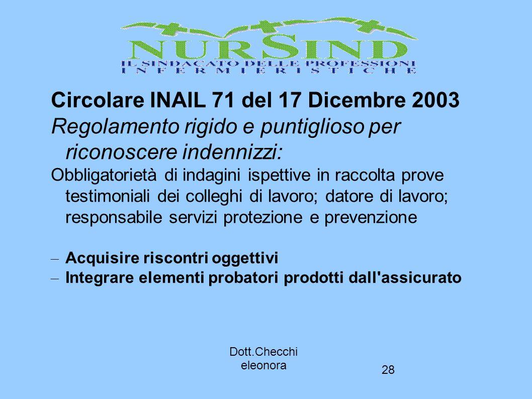 Circolare INAIL 71 del 17 Dicembre 2003