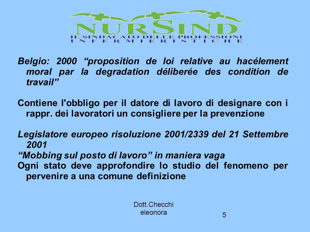 Legislatore europeo risoluzione 2001/2339 del 21 Settembre 2001