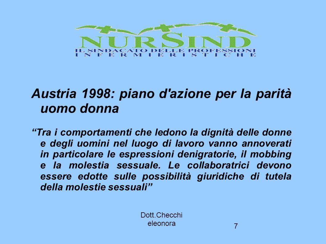 Austria 1998: piano d azione per la parità uomo donna