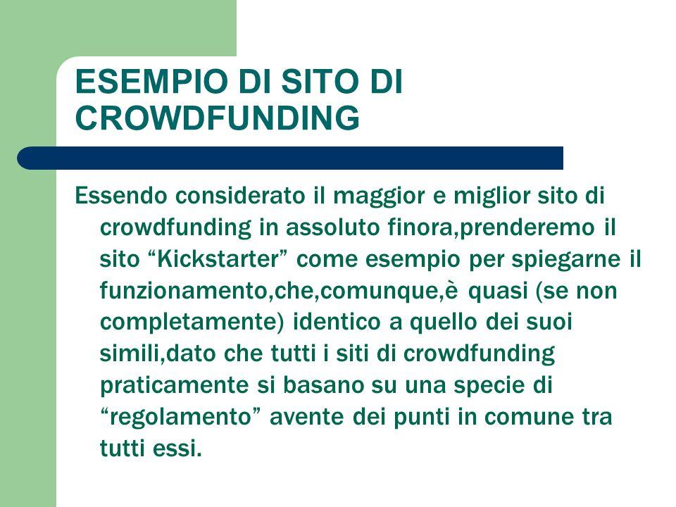ESEMPIO DI SITO DI CROWDFUNDING