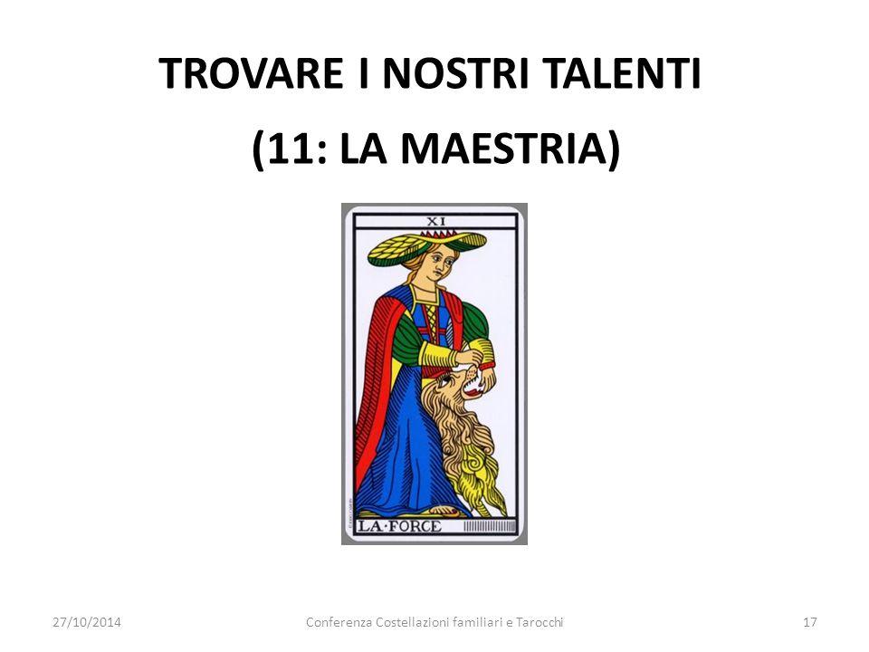 TROVARE I NOSTRI TALENTI (11: la maestria)