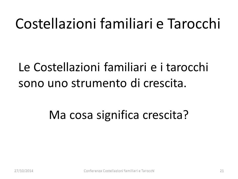 Costellazioni familiari e Tarocchi